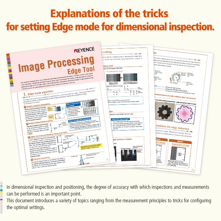 In dimensional inspection and positioning, the degree of accuracy with which inspections and measurements can be performed is an important point.  This document introduces a variety of topics ranging from the measurement principles to tricks for configuring the optimal settings.