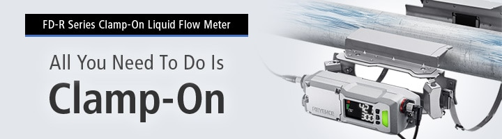 [FD-R Series Clamp-On Flow Meter]All You Need To Do Is Clamp-On