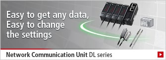 [Easy to get any data, Easy to change the settings] Network Communication Unit DL series