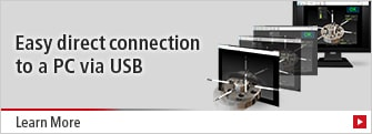 [Easy direct connection to a PC via USB] Learn More
