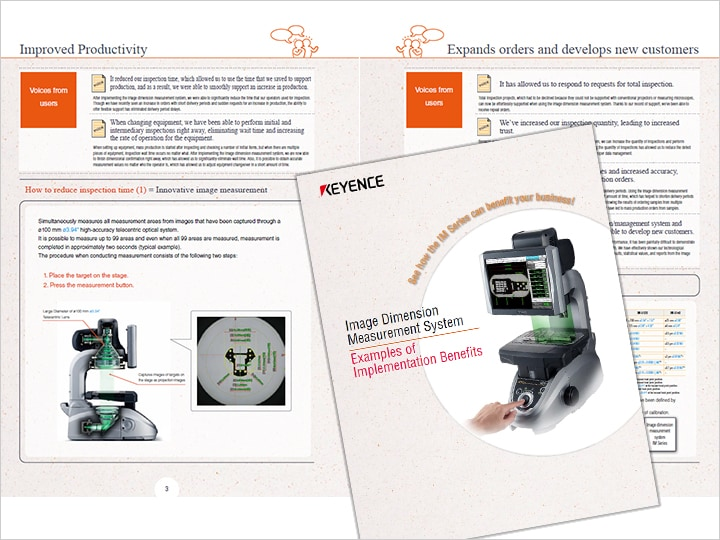 Image Dimension Measurement System Examples of Installation with Effect (English)