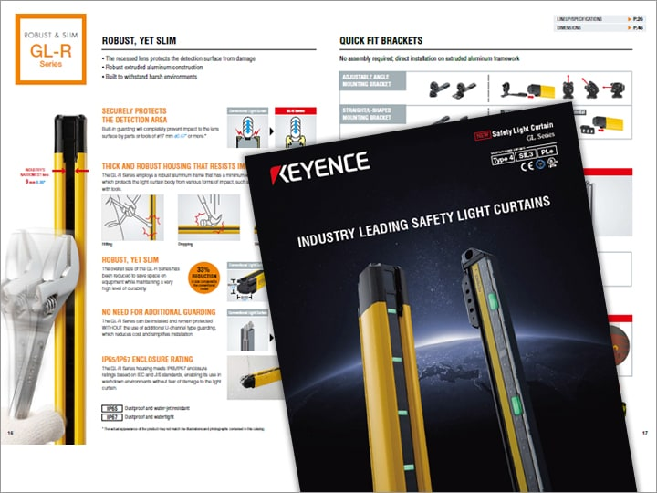 GL-R/GL-S Series Safety Light Curtain Catalog (English)