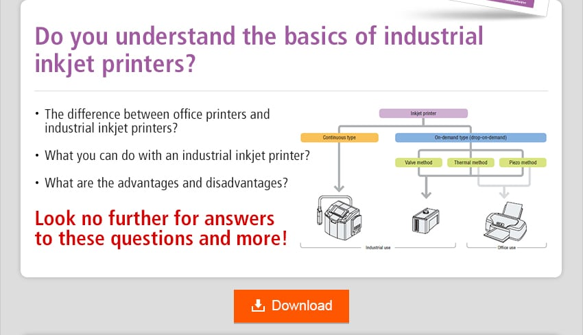 Do you understand the basics of industrial inkjet printers? The difference between office printers and industrial inkjet printers? What you can do with an industrial inkjet printer? What are the advantages and disadvantages? Look no further for answers to these questions and more! Download