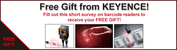 Fill out this short survey on barcode readers to receive your FREE GIFT!