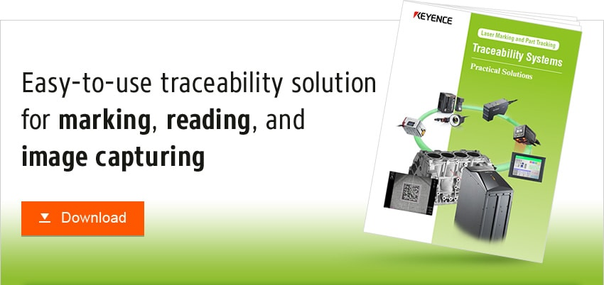 Easy-to-use traceability solution for marking, reading, and image capturing