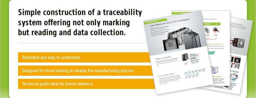 Simple construction of a traceability system offering not only marking but reading and data collection. [ Illustrated and easy to understand / Designed for those looking to revamp the manufacturing process / Technical guide ideal for future reference ]