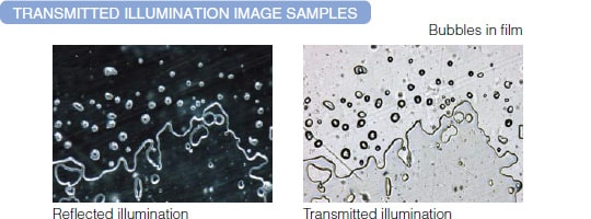 Transmitted illumination image samples.