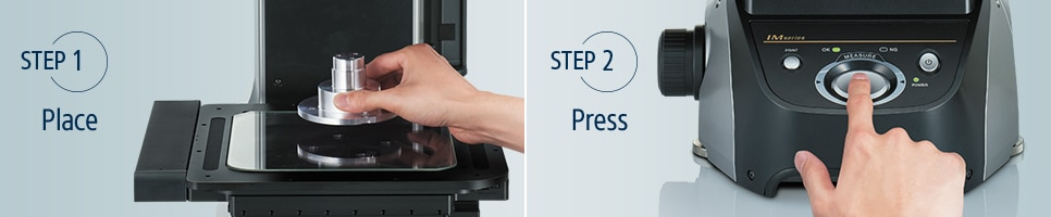 [step1]Place [step2]Press