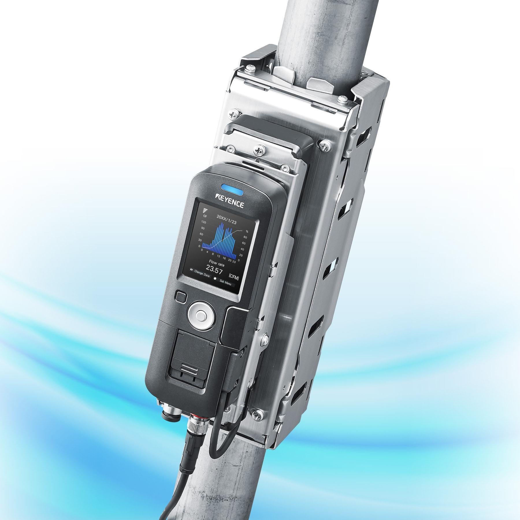 Clamp On Gas Flow Meter Fd G Series Keyence America