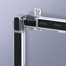 L-shaped mounting bracket. Safety light curtain option.