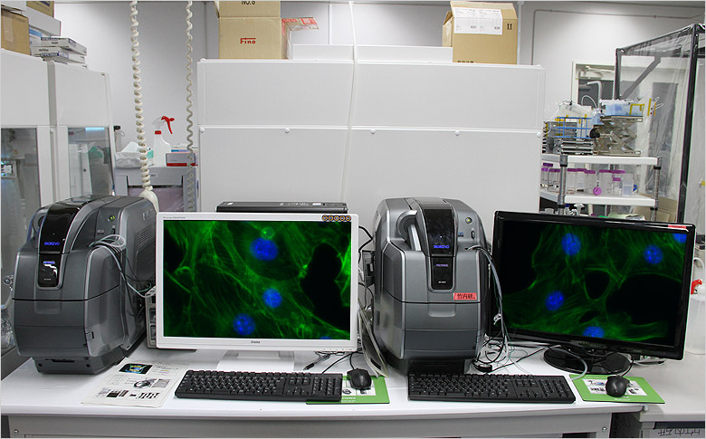 Image: Two BZ Series microscopes installed in a single laboratory...