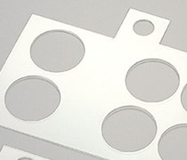 Film cutting and hole cutouts