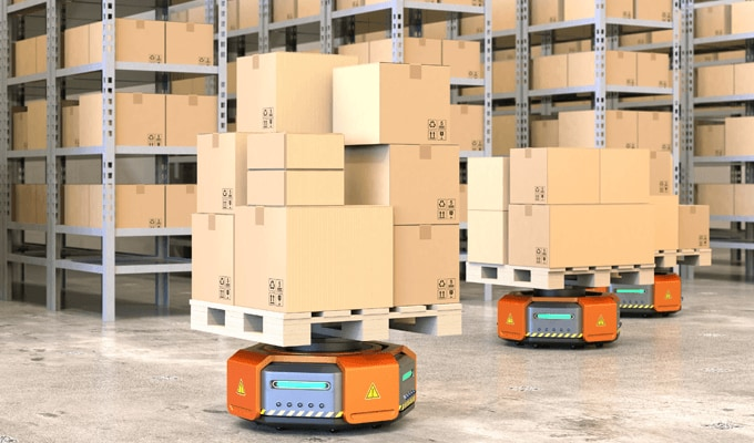Image of Automated Conveyance Robots with AI