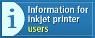Information for inkjet printer users