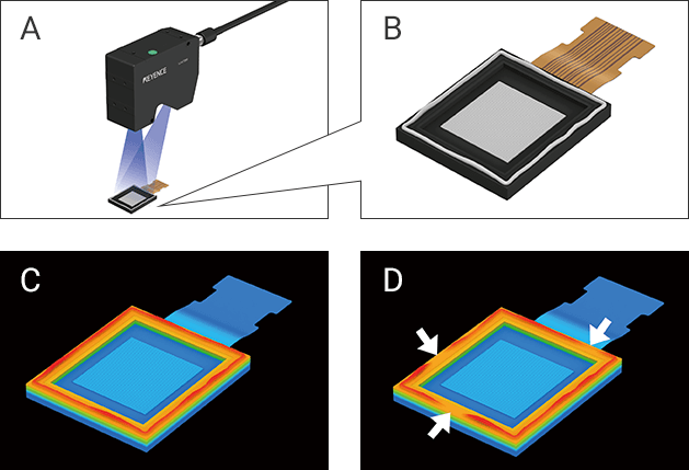 Adhesive shape inspection image