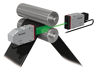 Image of measurement of roll gap, run-out and sheet thickness