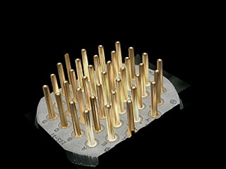 3D display of connector pins