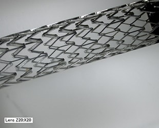 Free-angle imaging of a stent (20x)