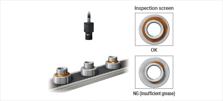 Inspection screen OK / NG (insufficient grease)