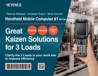 Handheld Mobile Computer: Great Kaizen Solutions for 3 Loads [Overload, Underload, and Irregular load]