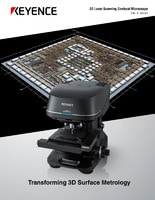 VK-X Series 3D Laser Scanning Confocal Microscope Catalog