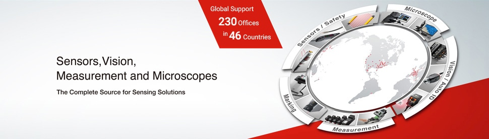 Sensors, Vision, Measurement and Microscopes. The Complete Source for Sensing Solutions. Global Support 220 offices in 46 Countries.