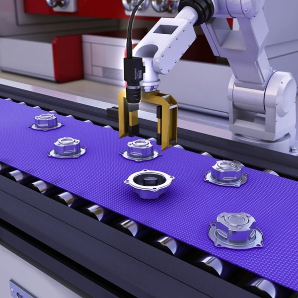 Random Picking Of Bushing Parts By Robots Industry